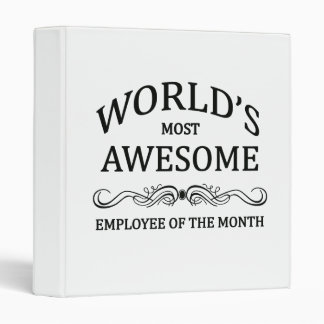 World's Most Awesome Employee of the Month Binder