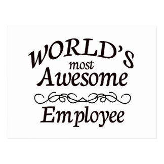 World's Most Awesome Employee Postcards