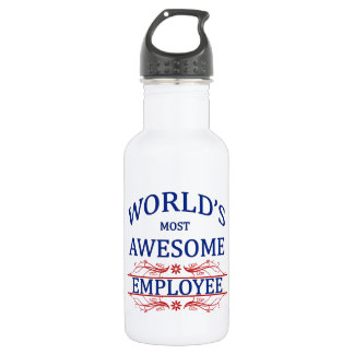 World's Most Awesome Employee Stainless Steel Water Bottle