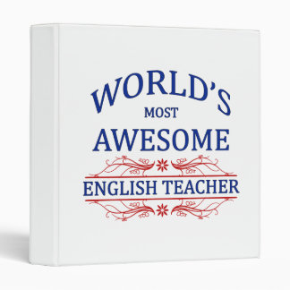 World's Most Awesome English Teacher Binder