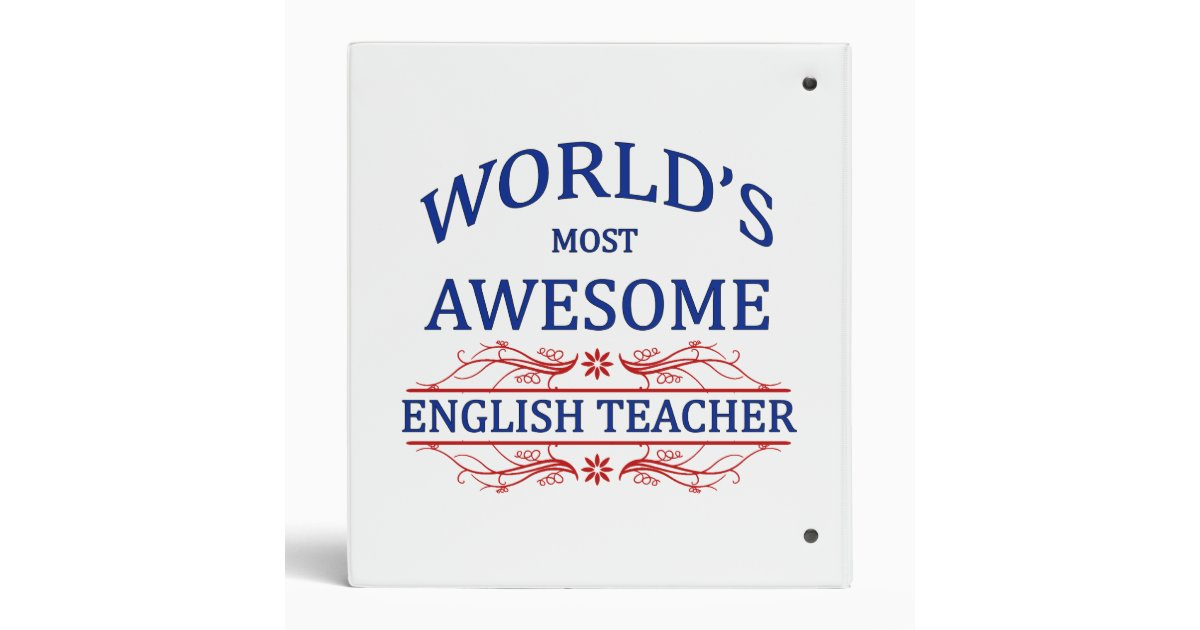 World 39 s most awesome english teacher binder zazzle for Awesome englisch