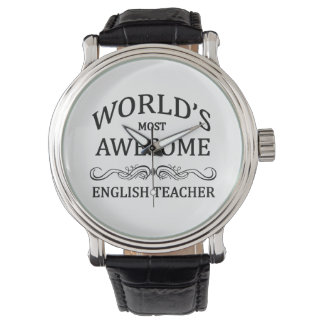 World's Most Awesome English Teacher Wrist Watch