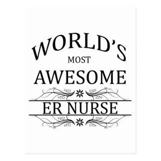 World's Most Awesome ER Nurse Postcard