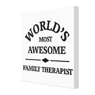 World's most awesome Family Therapist Canvas Print