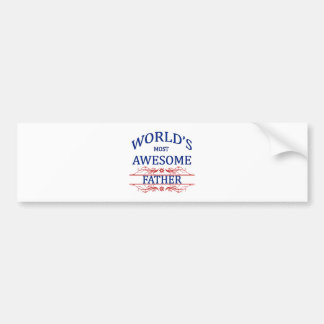 World's Most Awesome Father Bumper Sticker