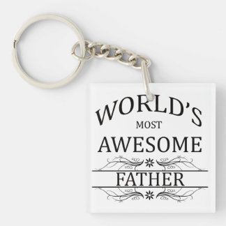 World's Most Awesome Father Keychain