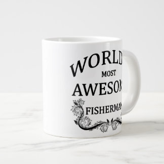 World's Most Awesome Fisherman 20 Oz Large Ceramic Coffee Mug