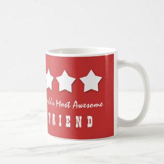 World's Most Awesome FRIEND Custom Name B075A Classic White Coffee Mug