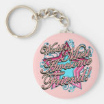 Worlds Most Awesome Friend Keychain