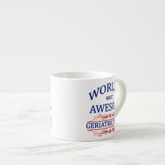 World's Most Awesome Geriatric Nurse Espresso Cup