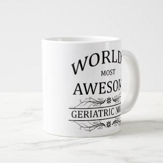 World's Most Awesome Geriatric Nurse Giant Coffee Mug