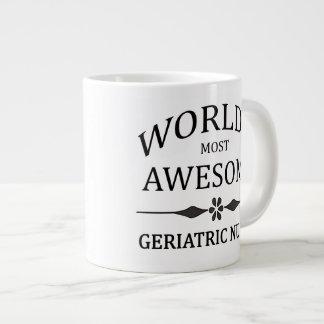 World's Most Awesome Geriatric Nurse Large Coffee Mug