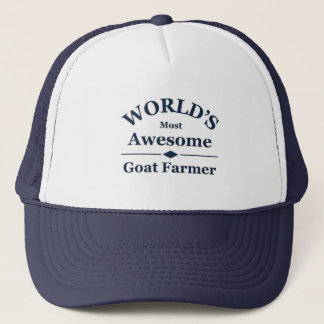 World's most awesome Goat Farmer Trucker Hat