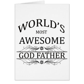 World's Most Awesome God Father Card