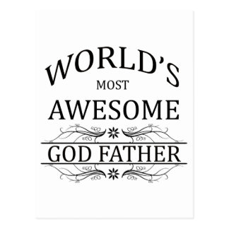 World's Most Awesome God Father Postcard