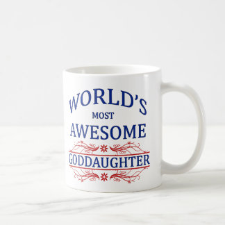 World's Most Awesome Goddaughter Coffee Mug