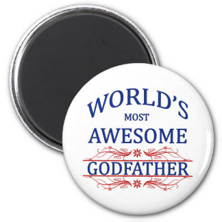 World's Most Awesome Godfather 2 Inch Round Magnet