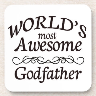 World's Most Awesome Godfather Beverage Coaster