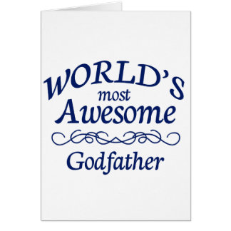 World's Most Awesome Godfather Card
