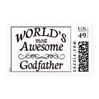 World's Most Awesome Godfather Postage Stamp