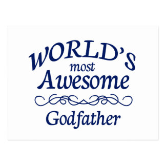 World's Most Awesome Godfather Postcard