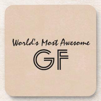 World's Most Awesome Godfather Sand Gift Item V01 Beverage Coaster