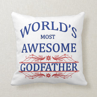 World's Most Awesome Godfather Throw Pillow