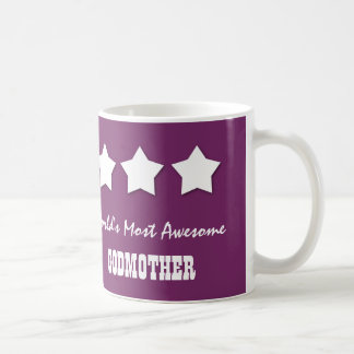 World's Most Awesome GODMOTHER Custom Name E05Z Coffee Mug