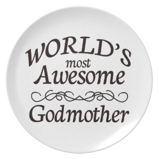 World's Most Awesome Godmother Dinner Plate