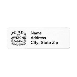 World's Most Awesome Godson Return Address Label