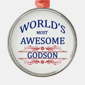 World's Most Awesome Godson Metal Ornament