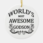 World's Most Awesome Godson Ornaments