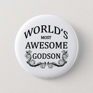 World's Most Awesome Godson Pinback Button