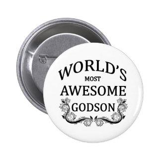 World's Most Awesome Godson Pinback Button