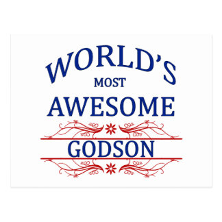World's Most Awesome Godson Postcard