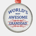 World's Most Awesome Granddad Ornaments