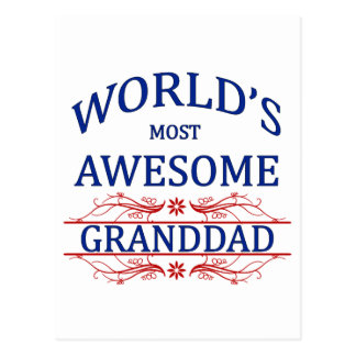 World's Most Awesome Granddad Postcard