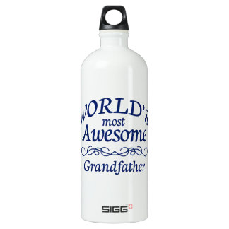 World's Most Awesome Grandfather Aluminum Water Bottle