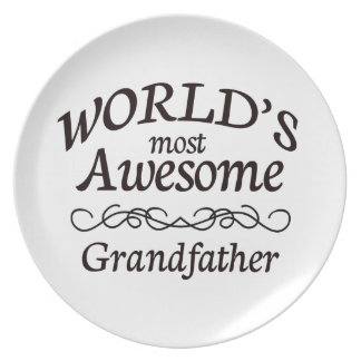 World's Most Awesome Grandfather Dinner Plate