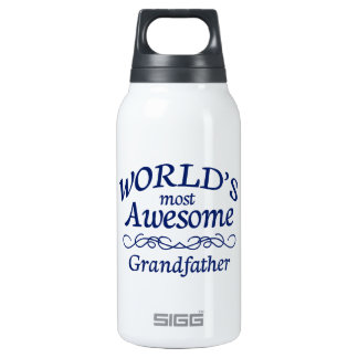 World's Most Awesome Grandfather Insulated Water Bottle