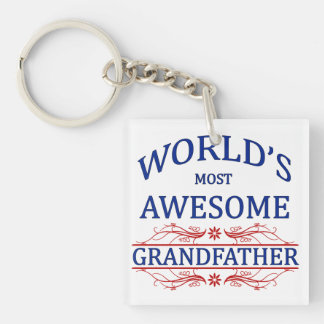 World's Most Awesome Grandfather Keychain