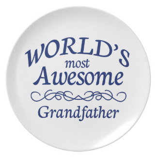 World's Most Awesome Grandfather Melamine Plate