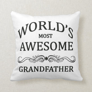 World's Most Awesome Grandfather Pillow