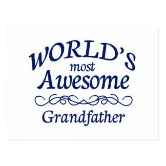 World's Most Awesome Grandfather Postcard