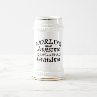 World's Most Awesome Grandma Beer Stein