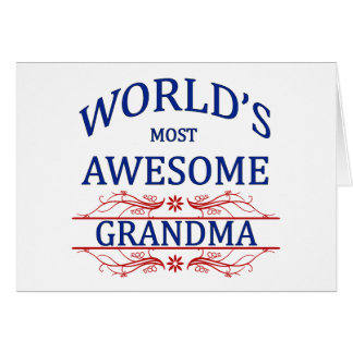 World's Most Awesome Grandma Card
