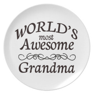 World's Most Awesome Grandma Dinner Plate