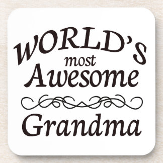 World's Most Awesome Grandma Drink Coaster