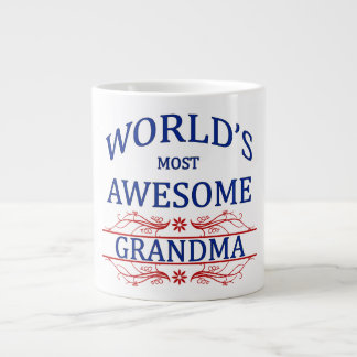 World's Most Awesome Grandma Giant Coffee Mug