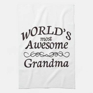 World's Most Awesome Grandma Hand Towels